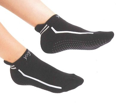 Yoga Socks,antirutsch,schwarz Gr.L/XL(41-45)