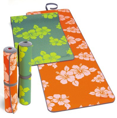 SISSEL Yoga Matte FLOWER 180x60x0,4cm ,orange
