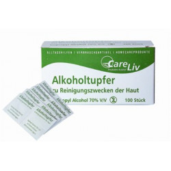 Alkoholtupfer 3x6cm,einzeln verpackt(VE100)