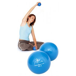 SISSEL Pilates Toning Ball ca. 900g,2er-Set,blau