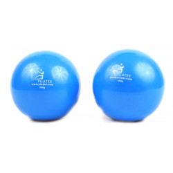 SISSEL Pilates Toning Ball ca. 450g,2er-Set,blau
